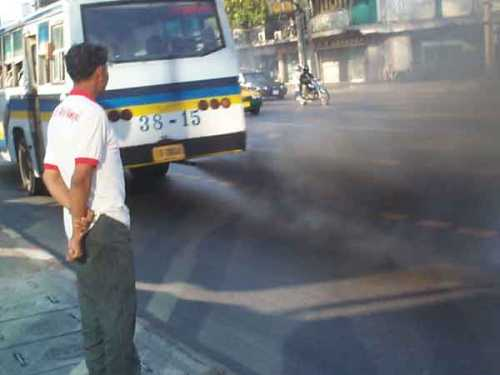 Bus and Pollution