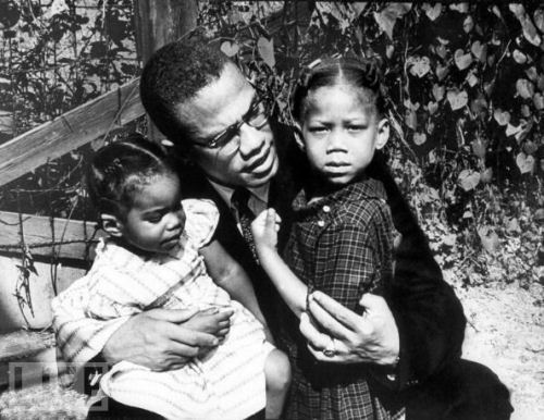Malcolm X with Kids