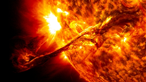 main eruption of sun