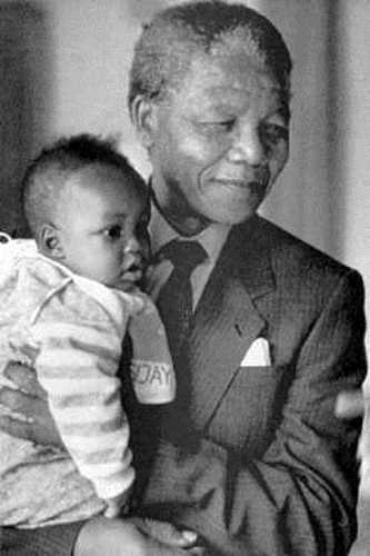 Nelson Mandela and Grandson