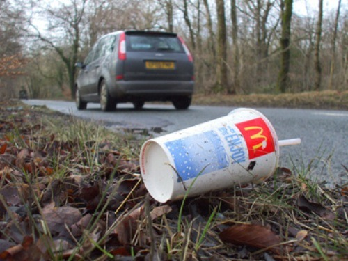 Littering From Car