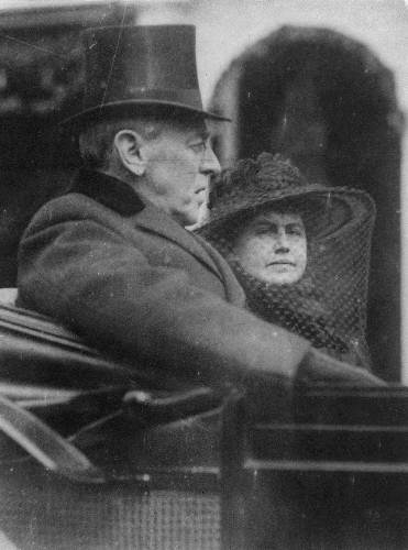Woodrow Wilson with Edith