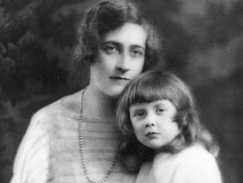 Agatha Christie and Daughter