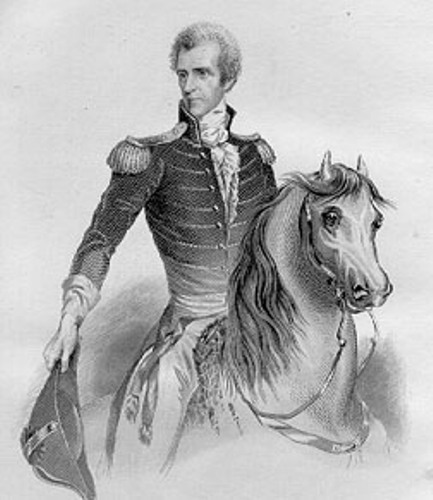 Andrew Jackson  with horse