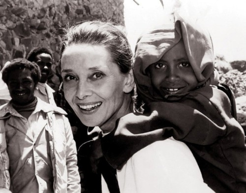 Audrey Hepburn and African Children