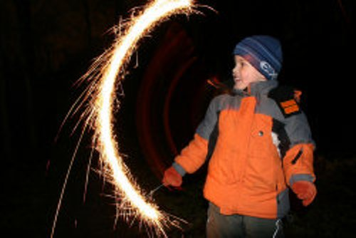 bonfire night sparkler