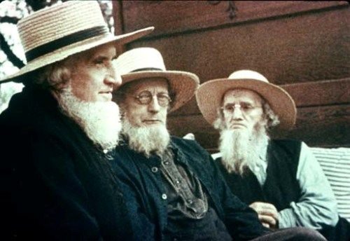 old amish people