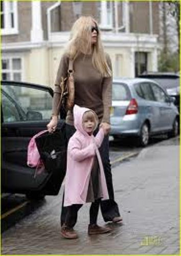 Claudia Schiffer and Kid