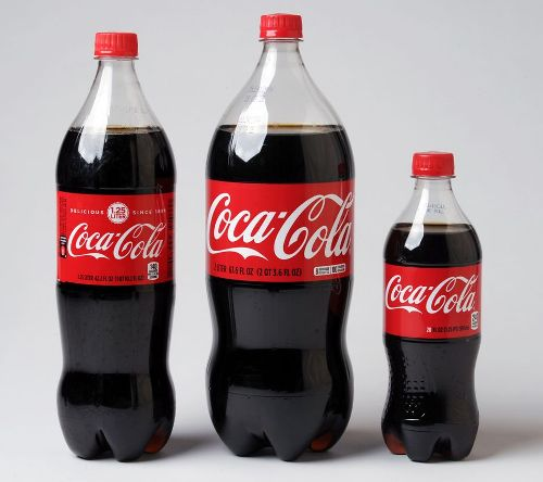 Coca Cola in bottles