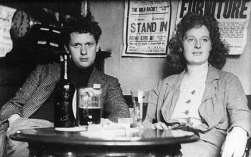 Dylan Thomas and Wife