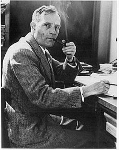 Edwin Hubble with Pipe