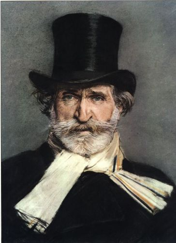 Giuseppe Verdi with Hat