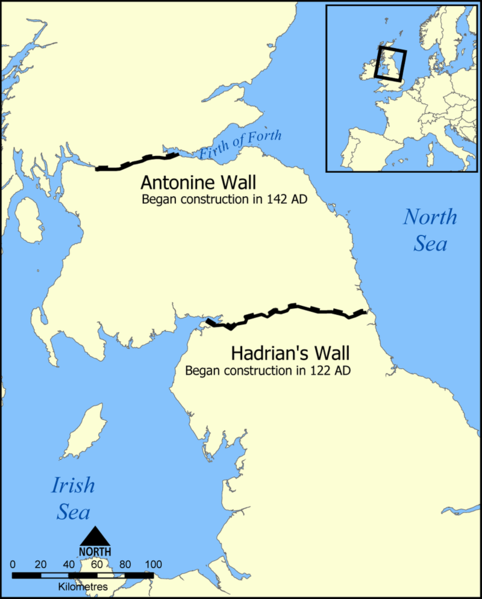 Hadrian's Wall location