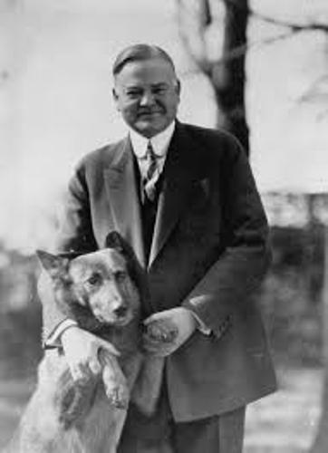 Herbert Hoover and Dog