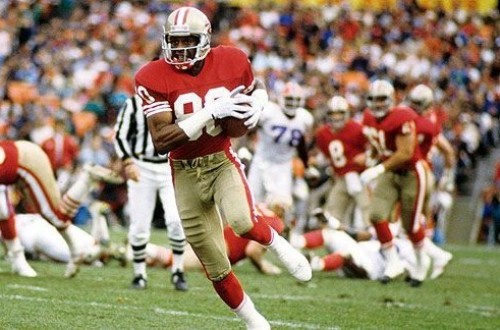 Jerry Rice in the Field