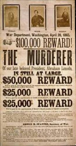 John Wilkes Booth Reward