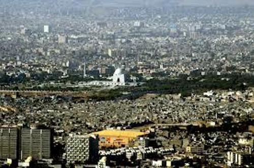 Karachi from the top