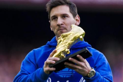 Lionel Messi Gold Shoes