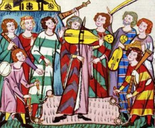 The popular musical instruments during the middle ages