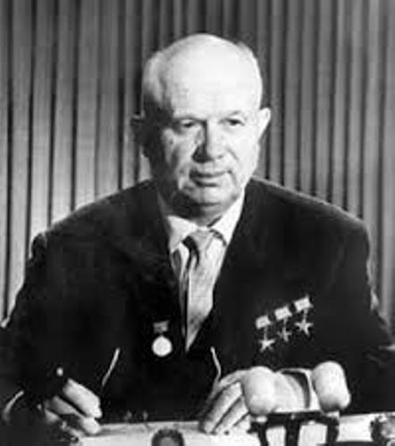 nikita khrushchev Nikita sergeyevich khrushchev was a soviet statesman who led the soviet union during part of the cold war as the first secretary of the communist party of th.