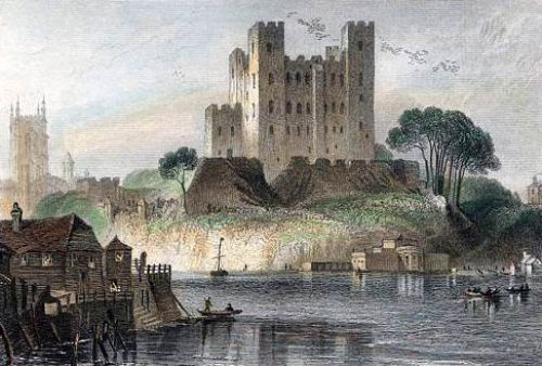 Rochester Castle Painting