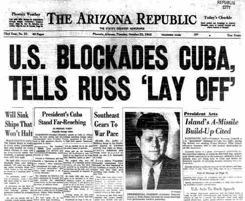 The Cuban Missile Crisis Newspaper