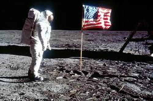 The First Man on The Moon Pic