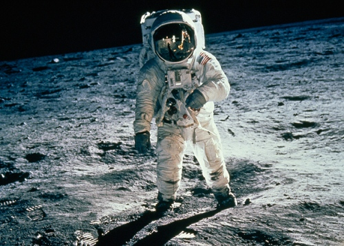 The First Man on The Moon Pics