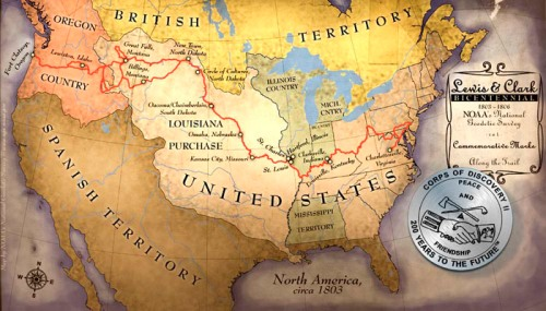 The Lewis and Clark Expedition Map