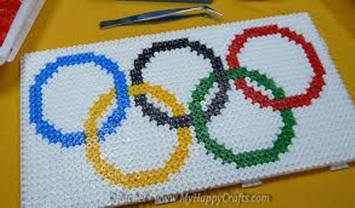 the olympic flag pattern
