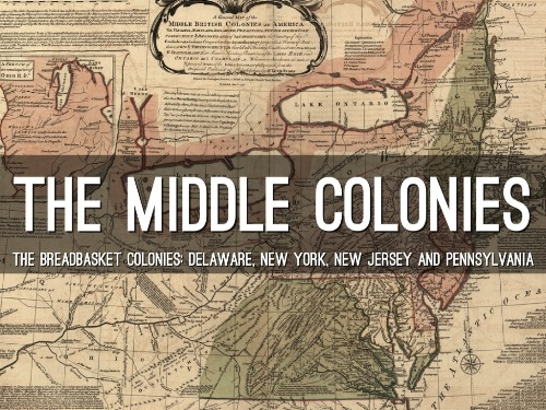 the Middle Colonies Pic