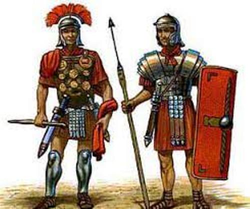the roman army uniform