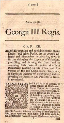 the stamp act facts