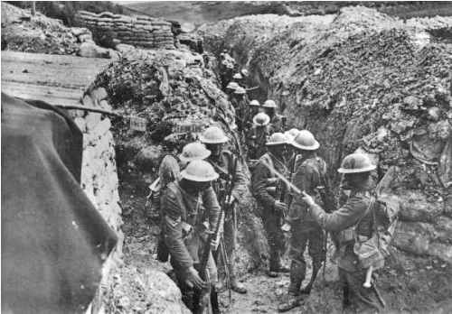 the trenches in world war 1