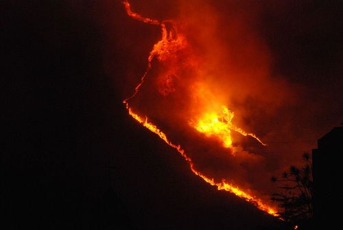 Wildfire in Caracas