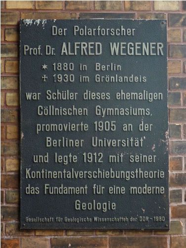 Facts about Alfred Wegener