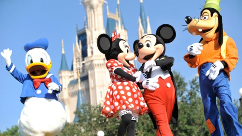 Donald, Mickey, Minnie,