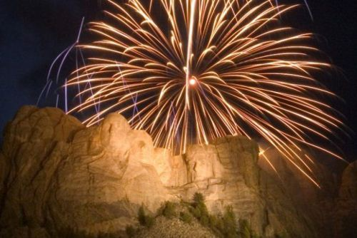 Fireworks at Mt Rushmore