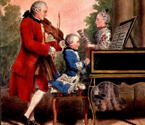Mozart Plays Piano