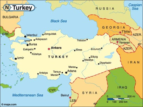 10 interesting turkey facts my interesting facts turkey map sciox Images