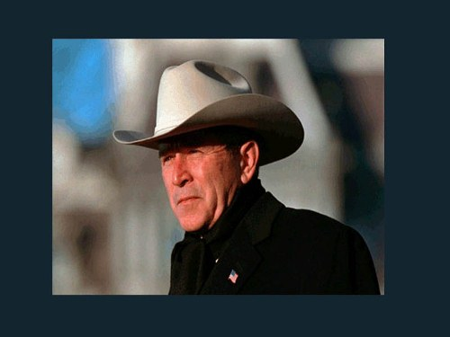 George W. Bush in a Hat
