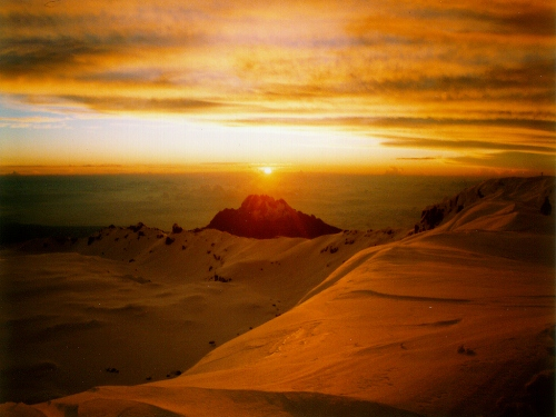 Mount Kilimanjaro at Sunset