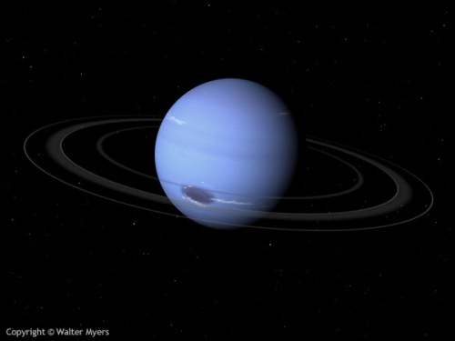 Neptune with rings