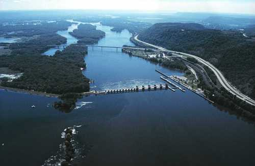 Mississippi River and Dam