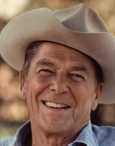 Ronald Reagan with A Hat