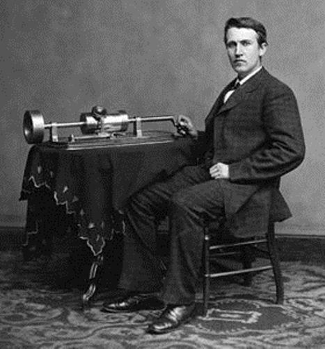 Thomas Edison and phonograph