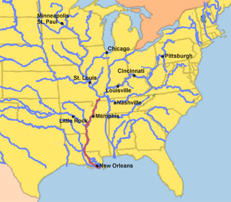 map of mississippi river