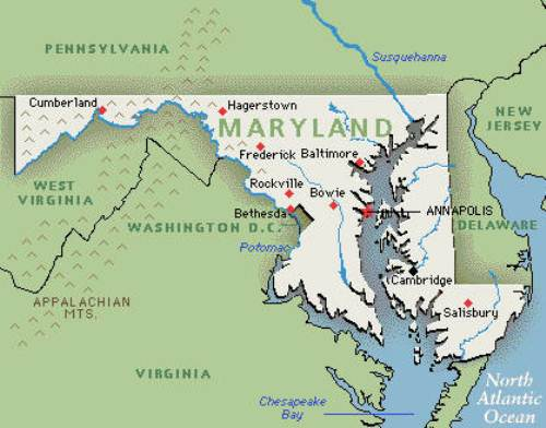 maryland map