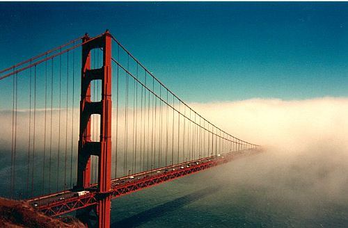 Golden Gate Bridge in Foggy Look