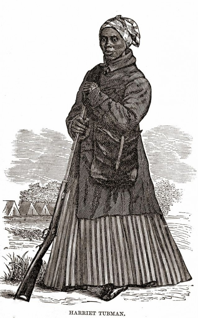 Harriet Tubman in Civil War Woodcut